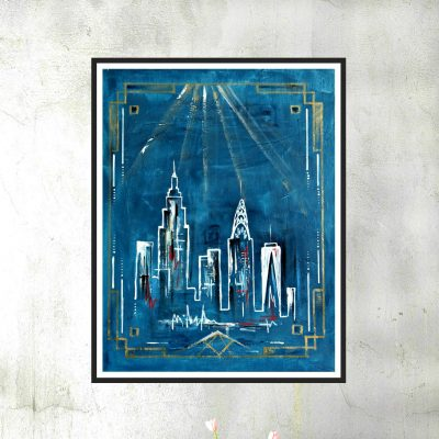 Art deco skyline I