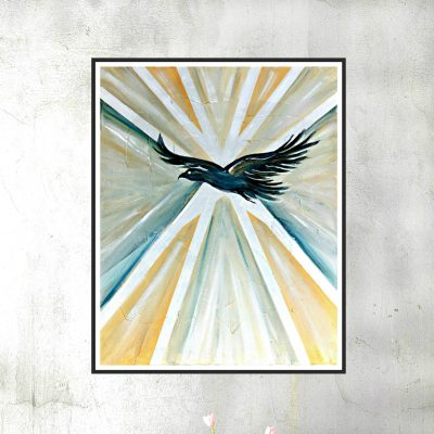 Art deco eagle blank wall 1000