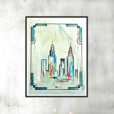 Art deco skyline II